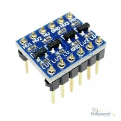 Modulo Conversor De Nivel Logico 3,3-5V Bidirecional